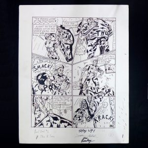 Original Comic art – Real Deal comics – Raw Dog